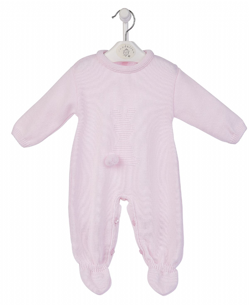 A2981P New Bobtail Bunny Knitted Onesie